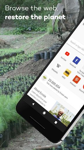 Ecosia screenshot 1