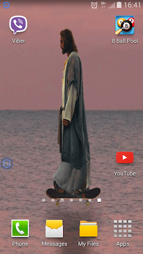 Jesus Skateboarding Wallpaper