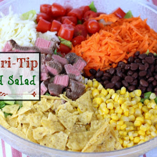 BBQ Tri-tip Chopped Salad
