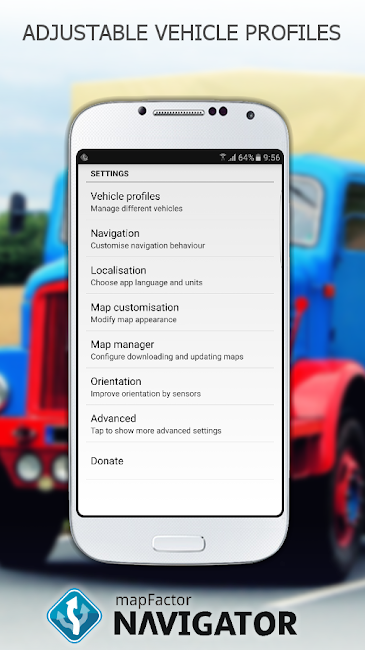 #6. MapFactor GPS Navigation Maps (Android)