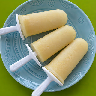 Pina Colada Popsicles.