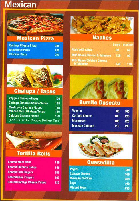 Omazoni menu 4
