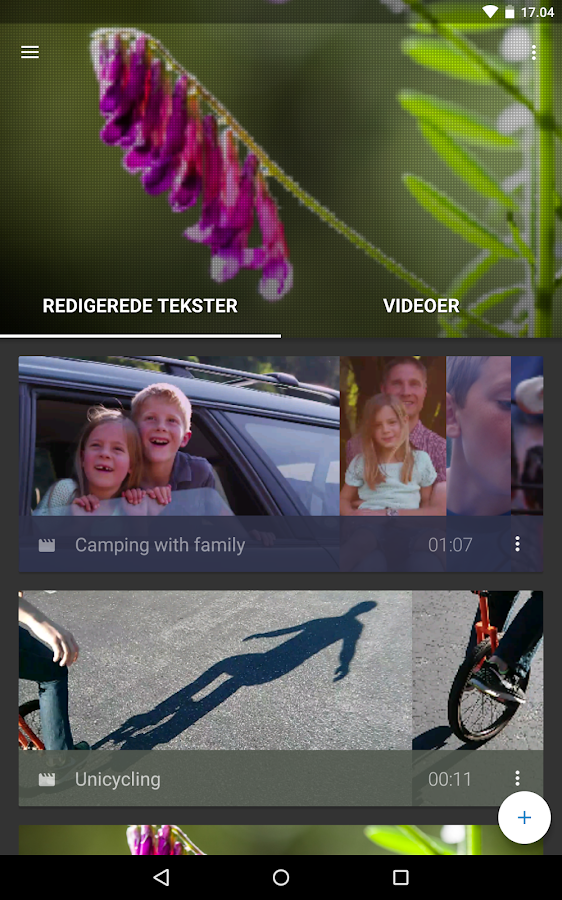 WeVideo - Video Redaktør – screenshot