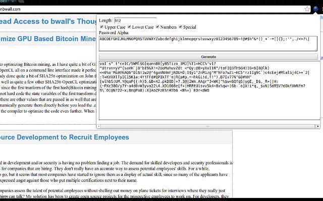 bwallHatesTwits Password Generator