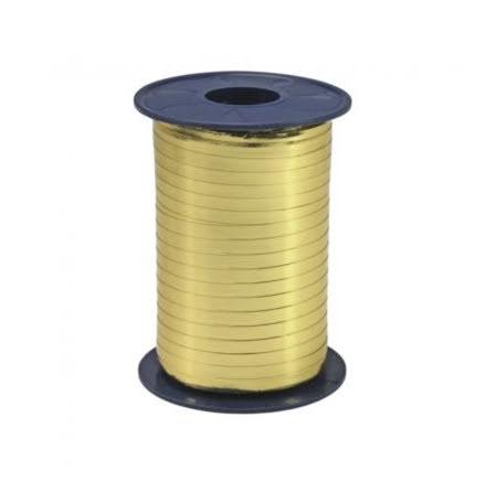 Ballongsnöre, metallic guld 250 m x 5mm