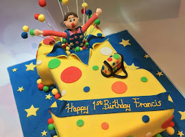 Mr Tumble number 1 shaped cake