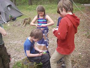 Photo: Die Kinder beschäftigen sich