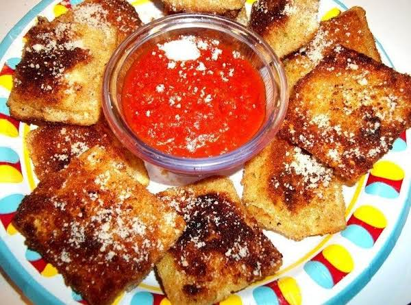 Two Way Fried Cheese Ravioli - Cassie