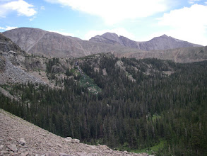 Photo: Chiefs Head, Pagoda Mountain, Longs Peak, and Mount Meeker.