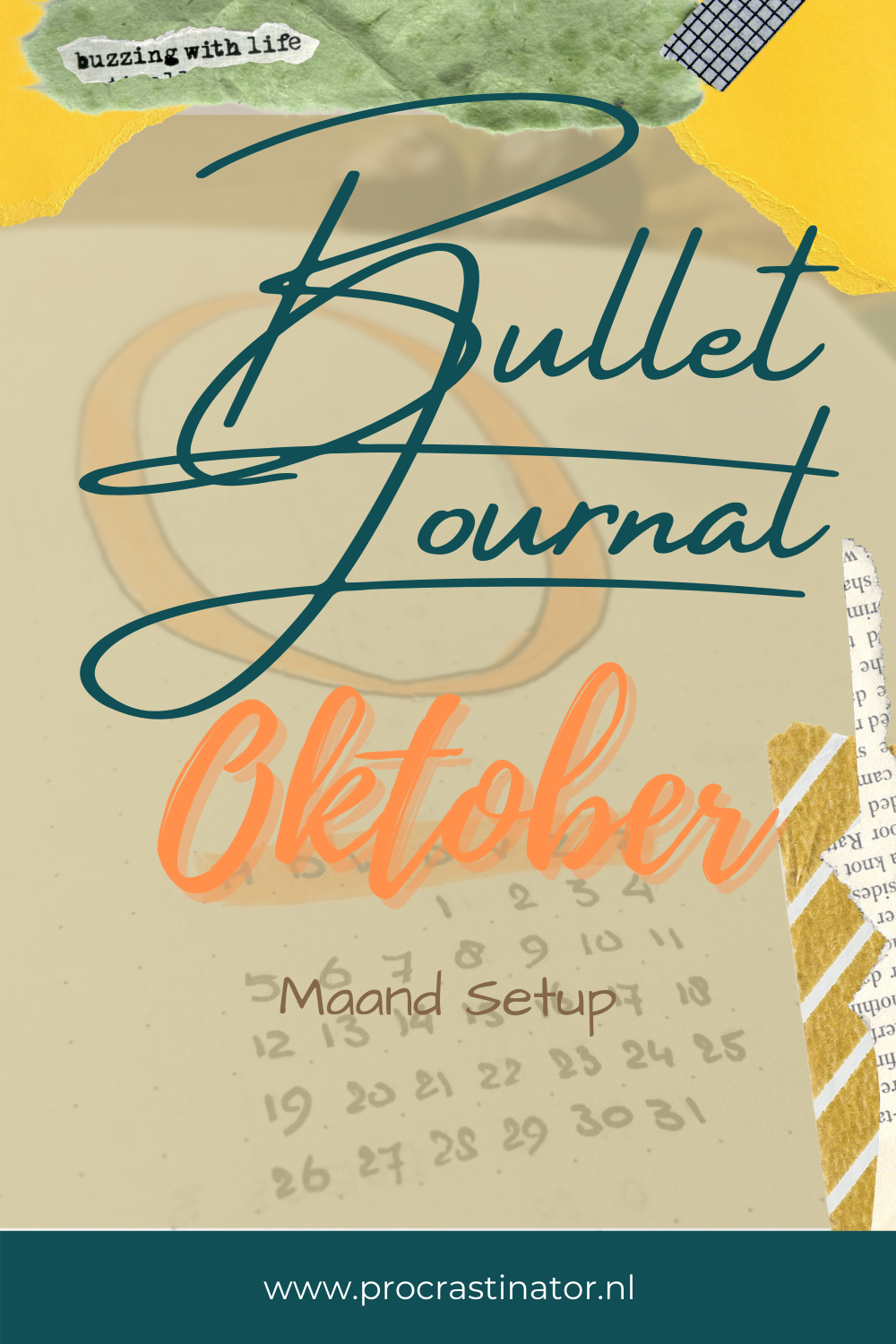 Mijn Oktober Bullet Journal Setup