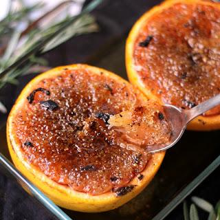 Brûléed Grapefruit with Rosemary Vanilla Sugar