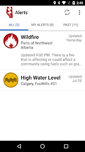 Alberta Emergency Alert screenshot 1