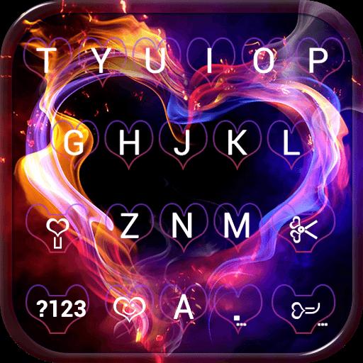 Smoke Heart Emoji Keyboard Wallpaper