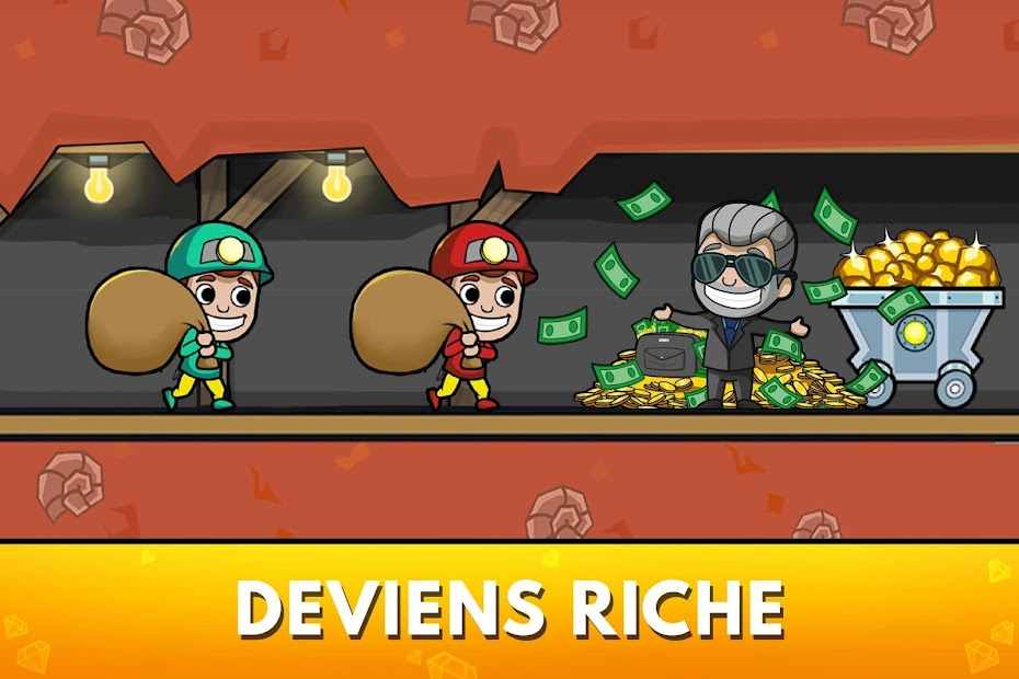 Idle Miner Tycoon - Manager de Mine Android App Screenshot