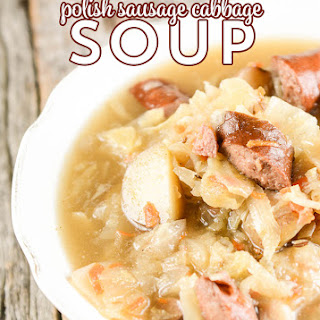 Crock Pot Polish Sausage and Cabbage Soup.