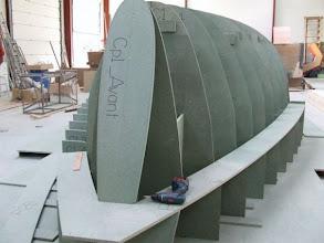 Photo: construction du moule de pont - état au 5.11.2008