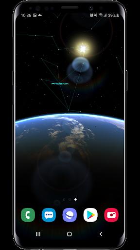 earth & moon  parallax 3d live live wallpaper screenshot 1
