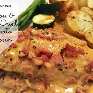 Creamy One-Pan Bacon & Sun-Dried Tomato Chicken