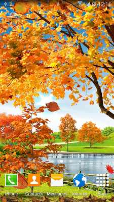 Autumn Pond Live Wallpaper - screenshot