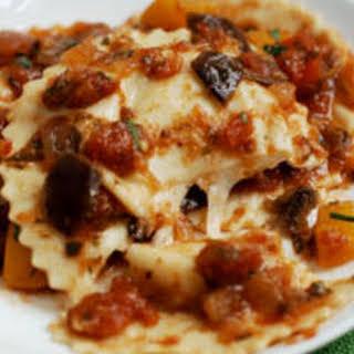 Mozzarella and Pecorino Ravioli.