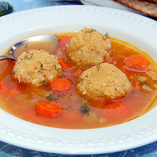 Matzo Ball Vegetable Soup [Vegan, Gluten-Free]
