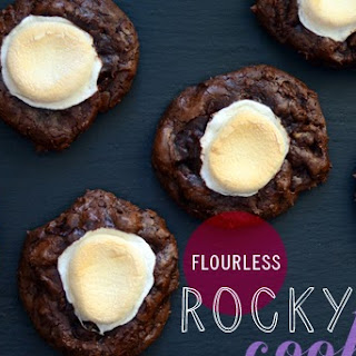 Flourless Rocky Road Cookies
