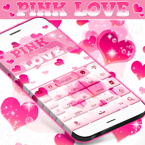 Pink Love Keyboard screenshot 2