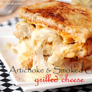 Artichoke and Smoked Gouda Grilled Cheese.
