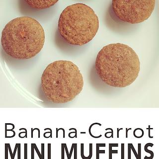Banana Carrot Mini Muffins Recipe