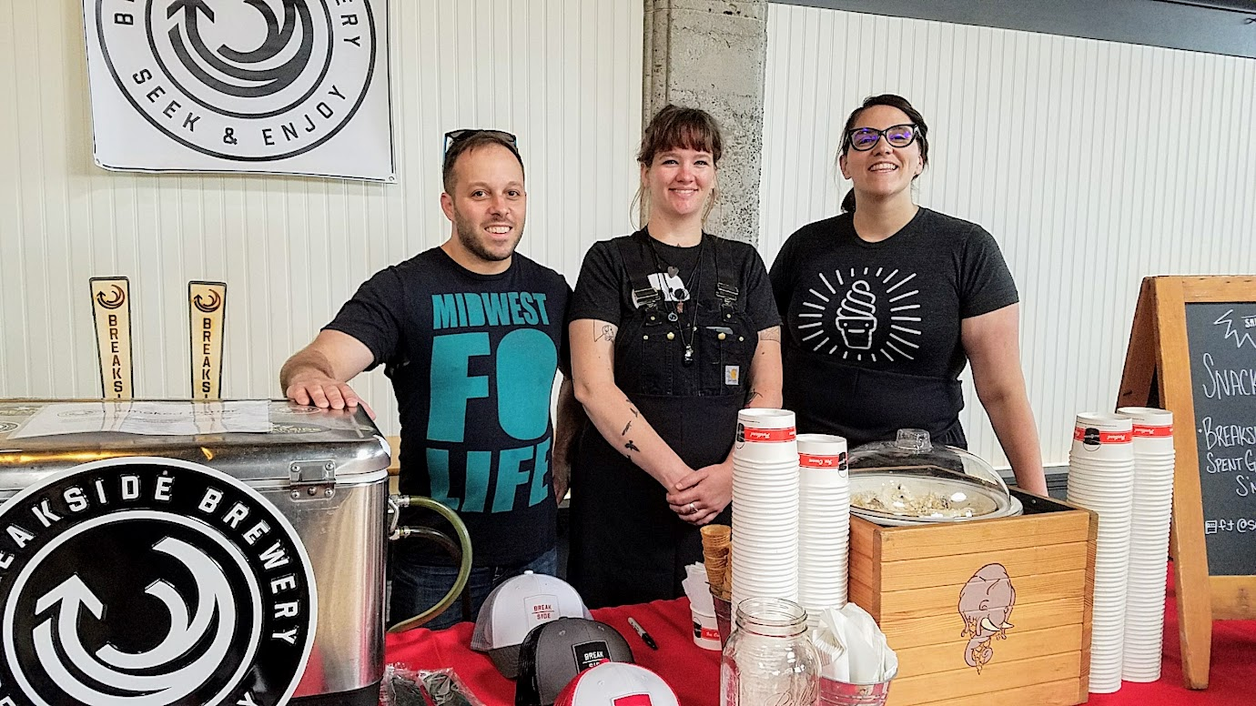 Snackdown 2017 for PDX Beer Week, a food and beer pairing event with a wrestling theme offering 10 Portland chef and 10 Oregon brewers working together Salt n Straw/Breakside brought the Breakside Spent Grains and Bacon S'more Ice Cream paired with Smoked Porter