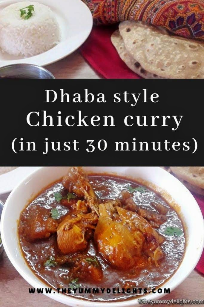 dhaba style chicken curry recipe. You can serve the chicken curry with roti and steamed rice. You can make the dhaba style chicken curry in just 30 minutes. Easy chicken curry made in pressure cooker.