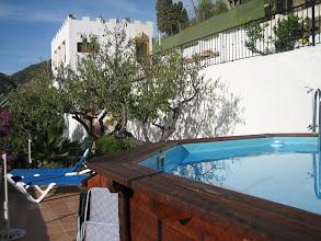 Photo: swimming pool and tower room B&B Villa Pico in Sella - Alicante - Spain