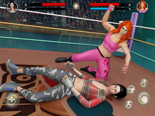 Women Wrestling Rumble: Backyard Fighting apkpoly screenshots 9