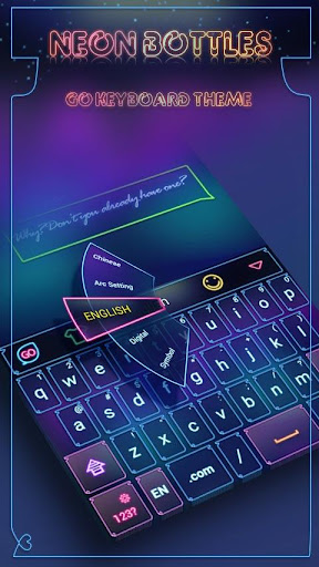 Neon Bottles GO Keyboard Theme