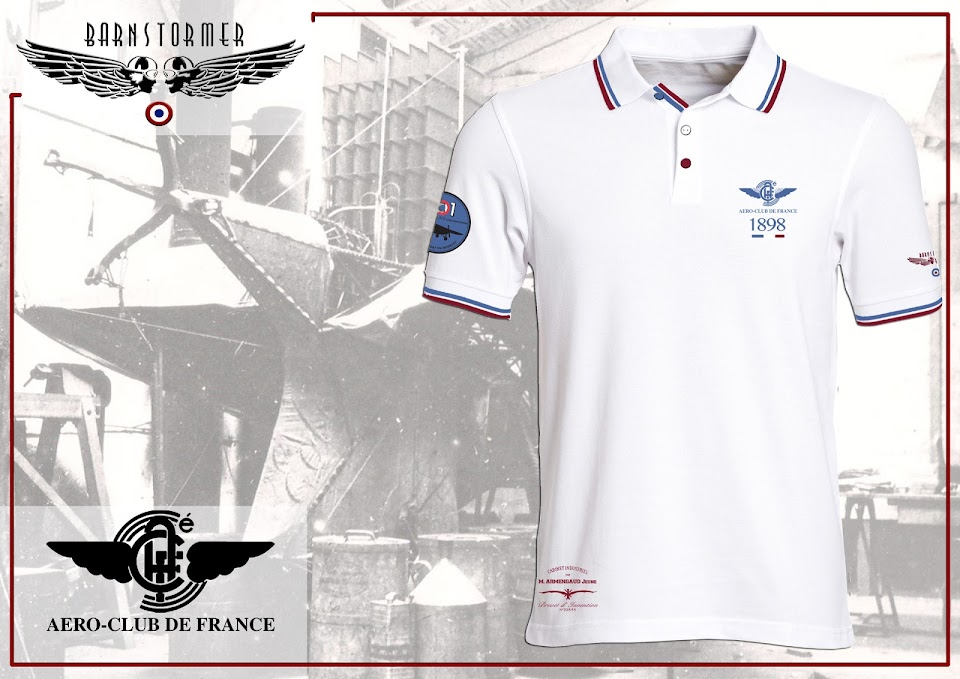 Aéro club de France polo made in france