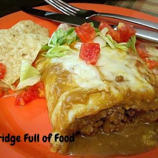 Home-made Burrito Enchilada-Style