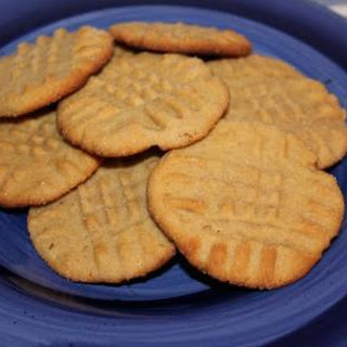 Ice Box Peanut Butter Shortbread Cookies