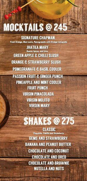 Lord of the Drinks Meadow menu 12