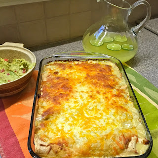 Tequila Lime Chicken Enchiladas
