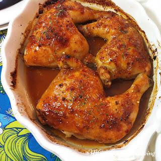 Orange Marmalade Glazed Chicken Legs