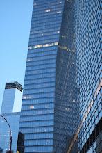 Photo: Buildings reflecting buildings in Lower Manhattan.