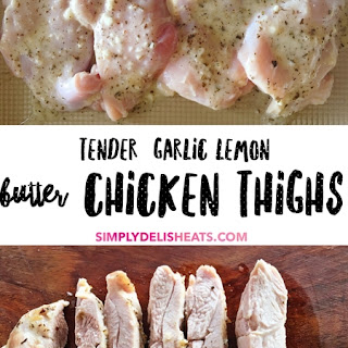 Tender Garlic Lemon Butter Chicken Thighs Recipe