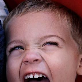 Happy Guy by Sarah Nelson - Babies & Children Children Candids ( play, fun, toddler, smiles, yellingfun )