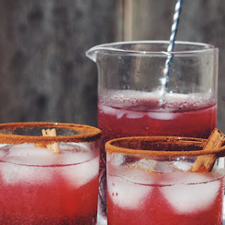 Cranberry Cinnamon Chia Whiskey Sour