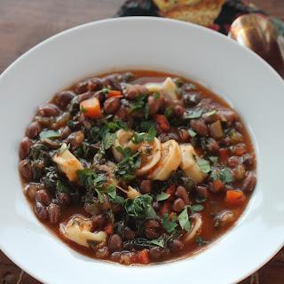 Zursun Heirloom Baby Borlotti Bean Soup with Cheese Tortellinis.