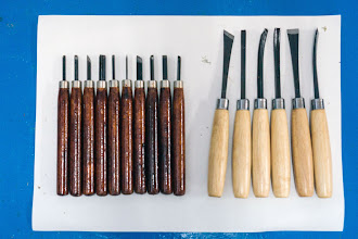 Photo: wood carving tools, and some small chisels
