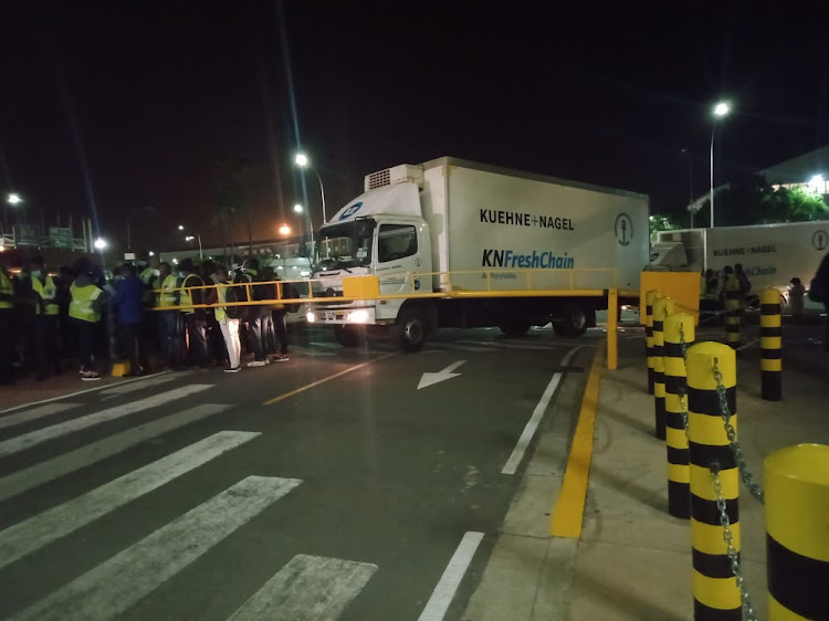 One of the cold-room trucks used to transport the doses from JKIA
