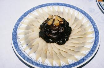 Photo: 11051 鎮江/浮王斎/料理/板橋牙筍/五冷盤の一つで、細いタケノコ(牙筍)と椎茸の前菜。板橋とは清代の文人の号から。