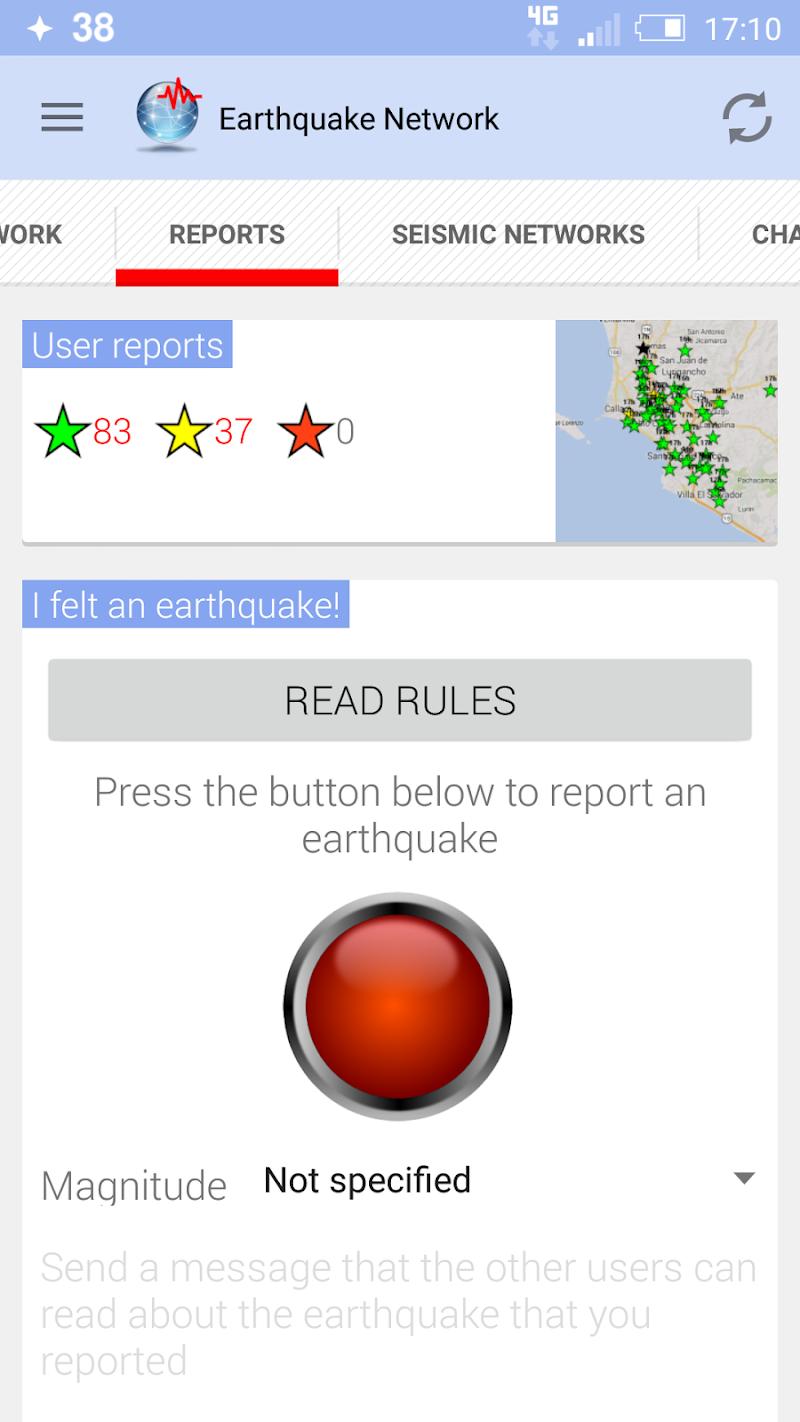 🚨 Earthquake Network Pro - Realtime alerts Screenshot 4