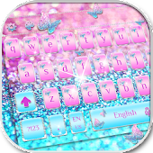 Silver Butterfly Keyboard Theme